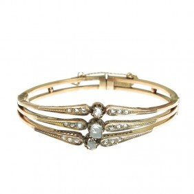 Gold Bracelet With Diamonds , Russia, XIX/XX Centur