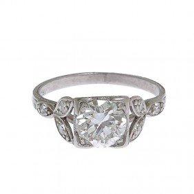 Platinum Bracelet With Diamonds , 1st Half Of XX Ce