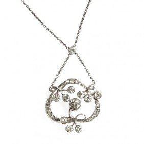 Platinum Necklace With Diamonds , Beginning Of XX C