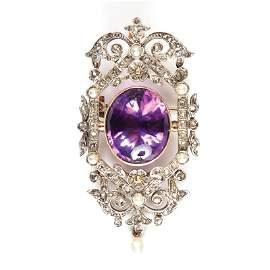 29: Amethyst pendant-brooch