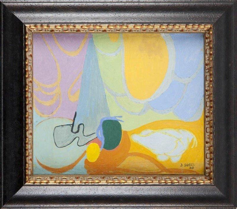 12:  Judyta Sobel (1924 , Lwow) Abstrakcja, 1948  oil/c