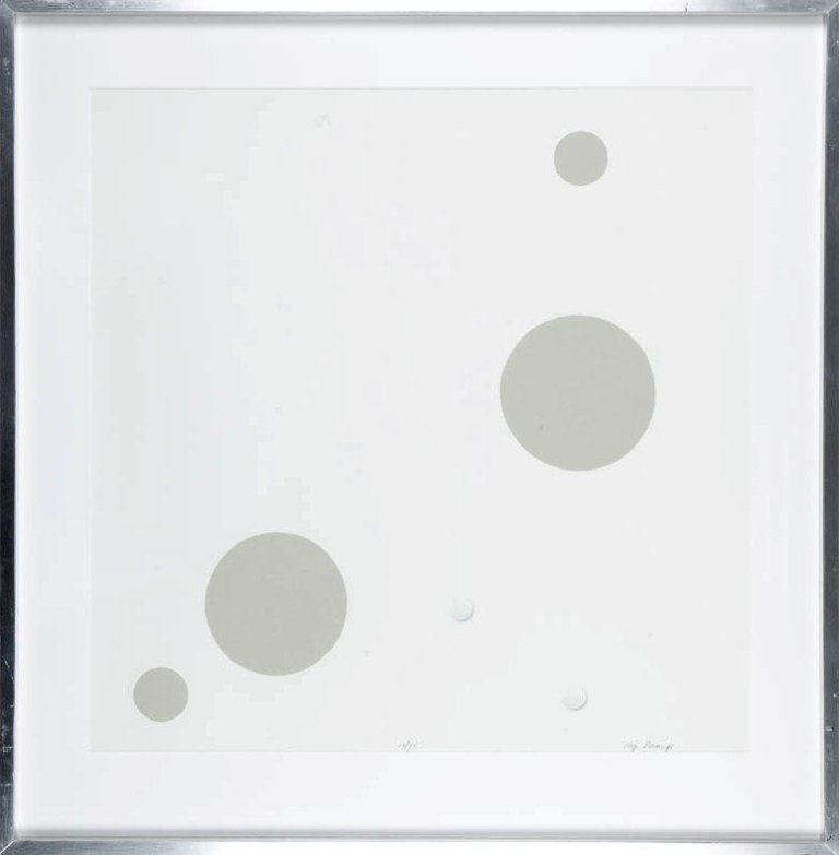 14:  Koji Kamoji (1935 , Tokio) Kompozycja z kolami ser