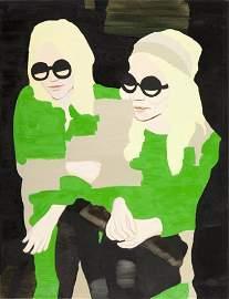 72: Kinga Nowak   (b. 1977 )  Twins, 2009  oil /canvas