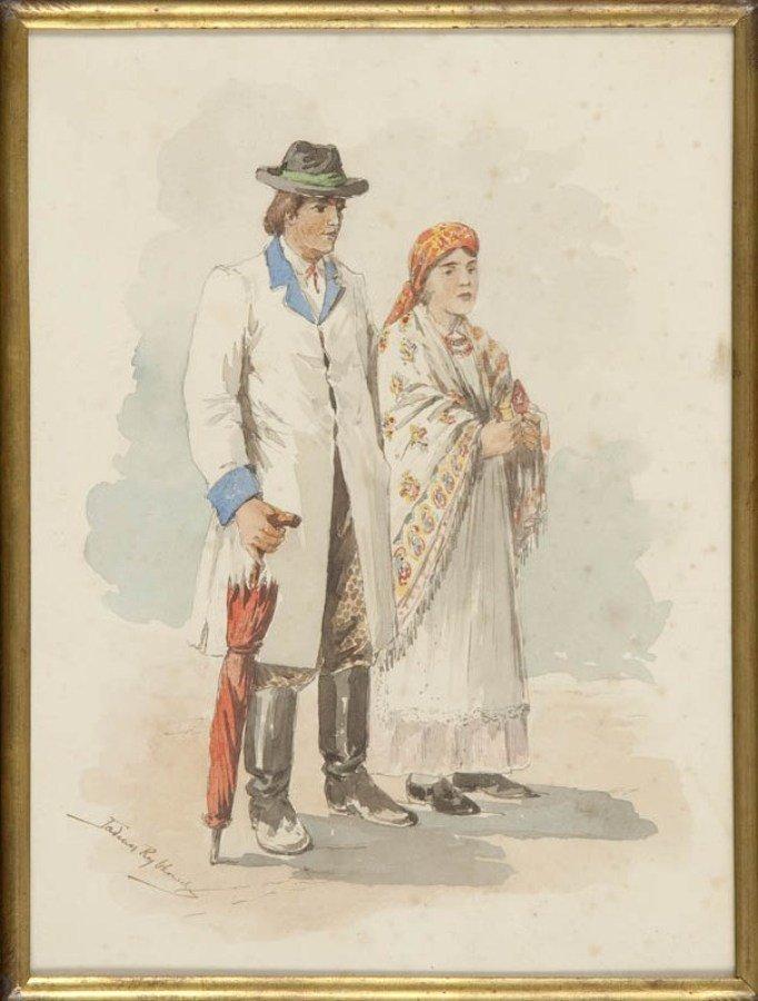 20: Tadeusz Rybkowski (1848 Kielce - 1926 Lwow) Para w