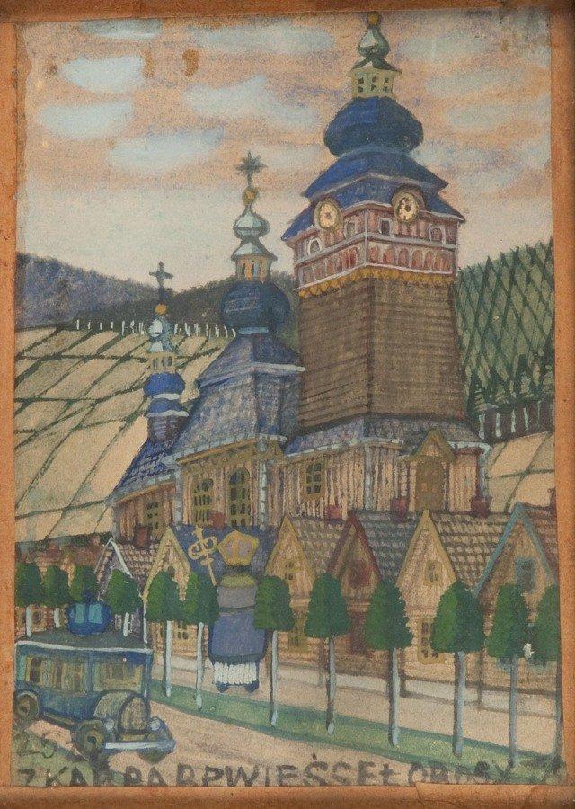 39: Nikifor Krynicki (1895 Krynica - 1968 Folusz) Widok