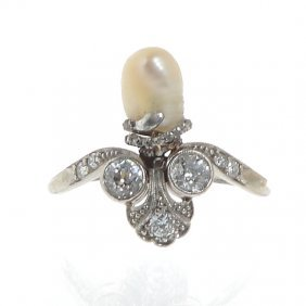 1: Palmette-shape ring, beginning of XX th century plat