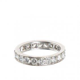 2: wedding ring Cartier-type, XX th century platinum  ~