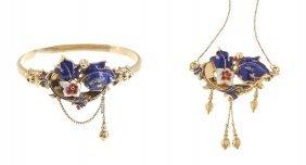 8: jewellery set, half of XIX th century, biedermeier b