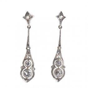 10: art déco earrings,  20.-30. XX th century gold  ~ 0