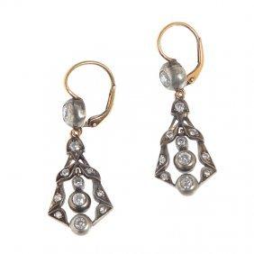 18: earrings, XIX th century gold  ~ 0,580, silver, 22