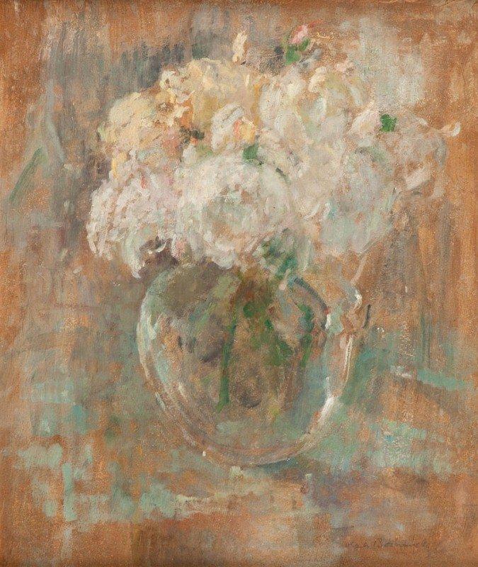 """5: Olga Boznanska  (1865 Krakow – 1940 Paris) """"Biale ro"""