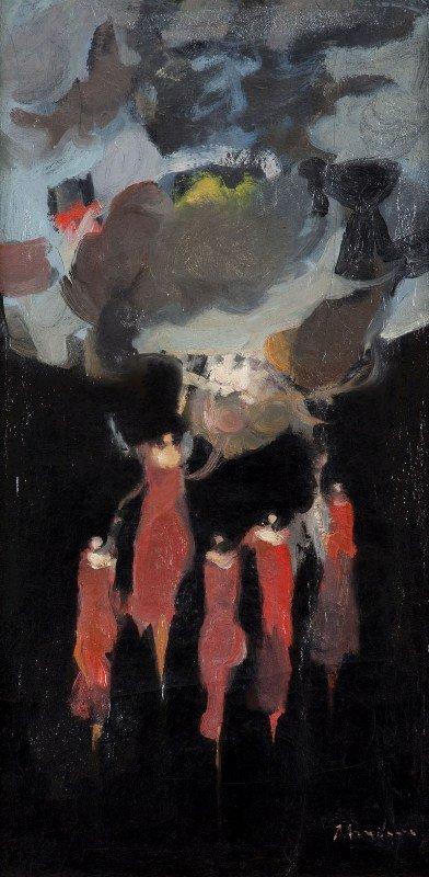 """9: Alfred Aberdam (1894 Lwow - 1963 Paris) """"Kompozycja"""