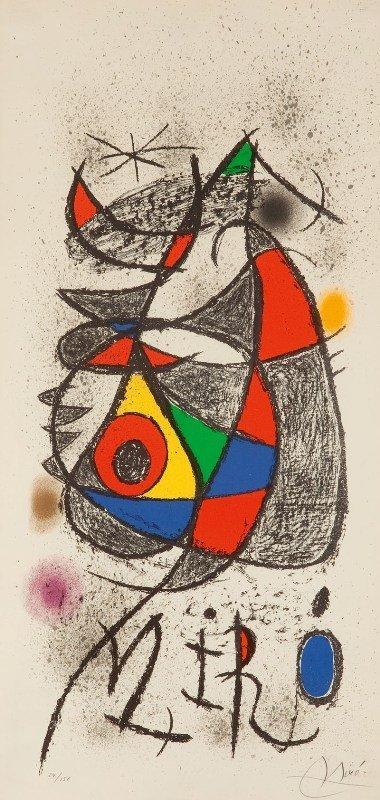 13: Joan Miro (1893 Barcelona - 1983 Palma de Mallorca)