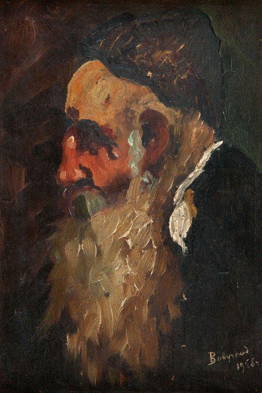 17: Unknown author, XX th century Portret brodatego Zyd