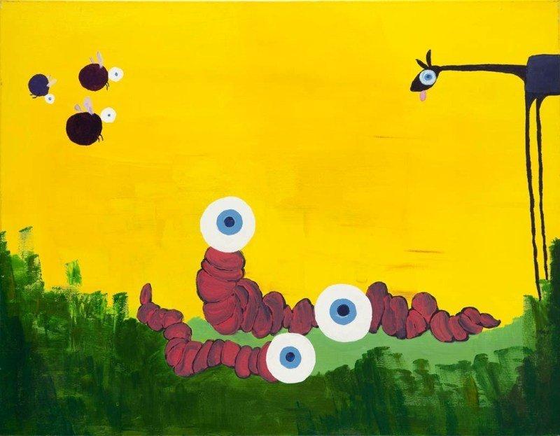 17: Stefan Hanckowiak (b. 1980 ) Zebranie, 2008  acryli