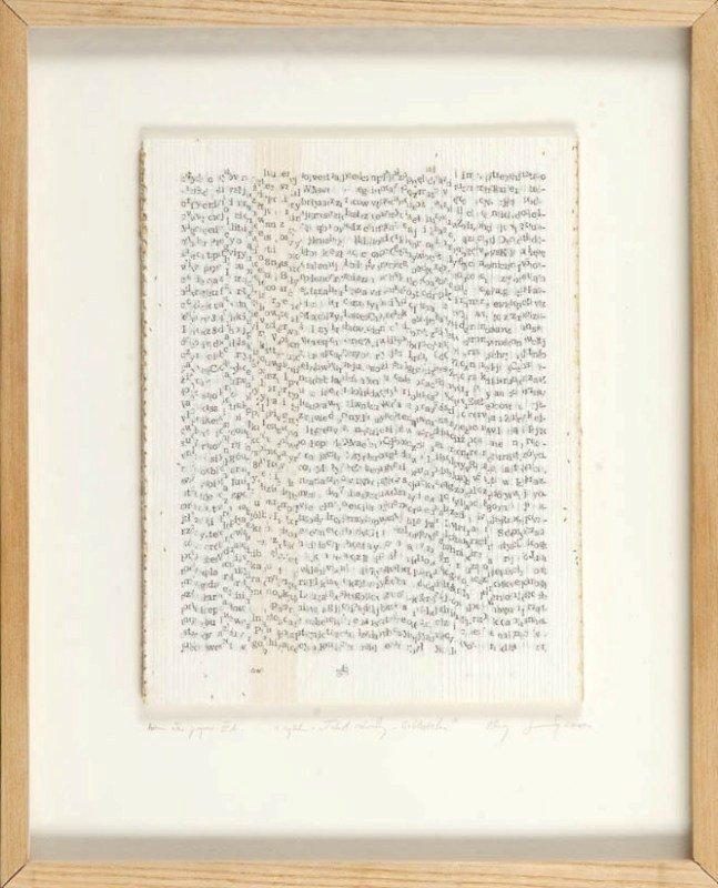 8: Zbigniew Salaj  (b. 1961 , Inowroclaw) Tekst otwarty
