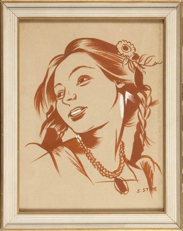 8: Zofia Stryjenska (1891 Krakow - 1976 Genewa) Dziewcz