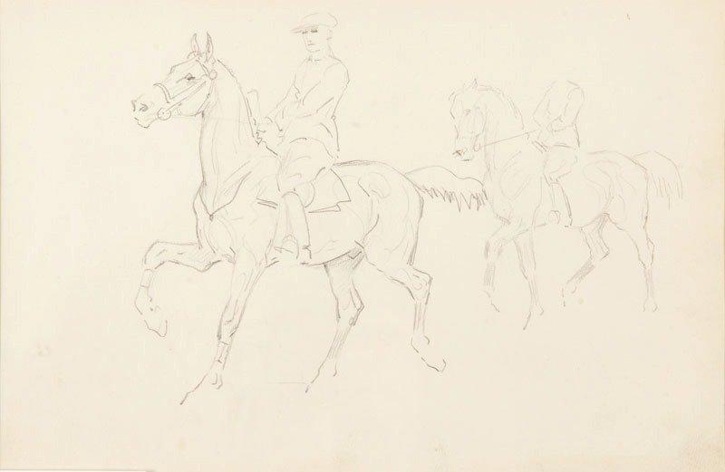11: Karol Kossak (1895-1975) Szkice mezczyzny na koniu
