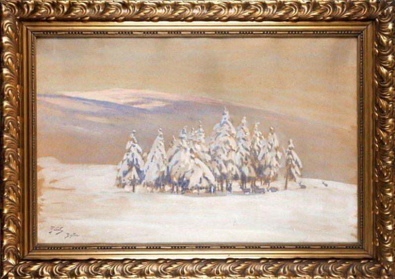 13: Julian Falat (1853 Tuliglowy - 1929 Bystra) Krajobr