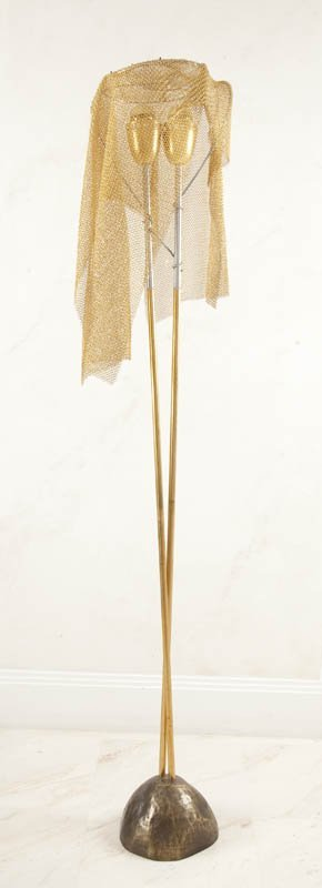 4: Artemide, Italy    standard lamp metal/brass, h. 175