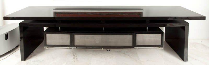 13:   Table with CD drawers wood, laminates, metal, 82