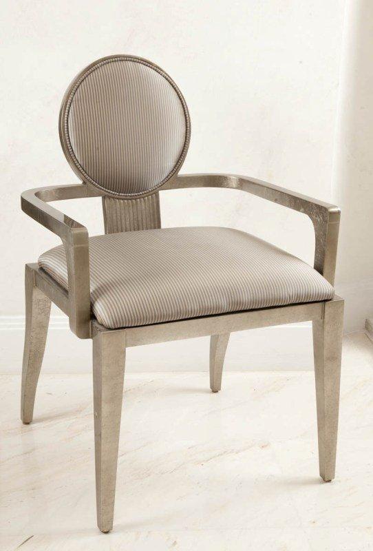 17:  Jimeco (?), Columbia   armchair  wood (silvered):