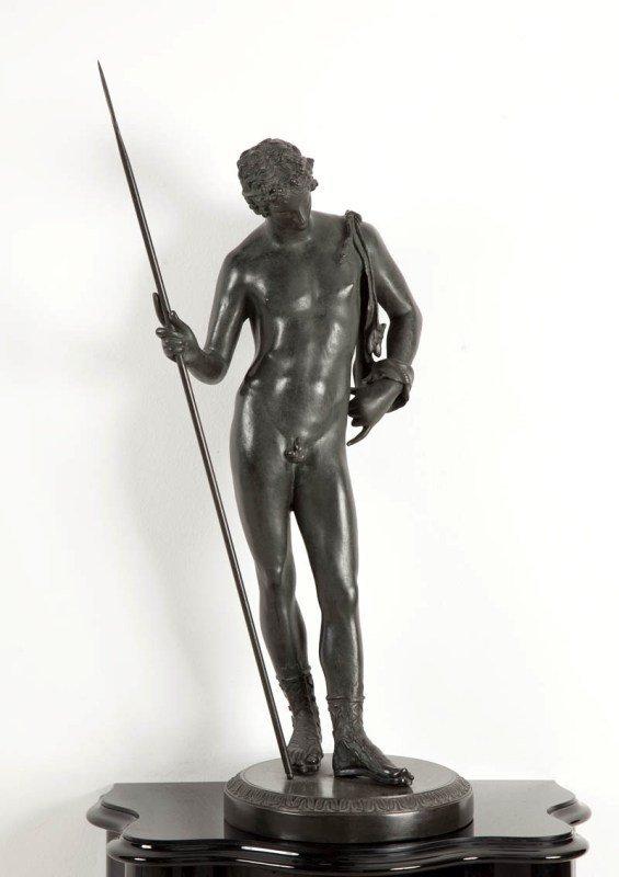 23: Wg oryginalu antycznego   Wojownik sculpture, bronz