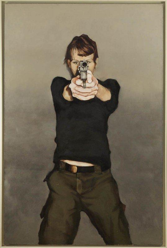 "32: Sylwia Narbutt  (b. 1978 , Warszawa) ""1"", 2004  oil"