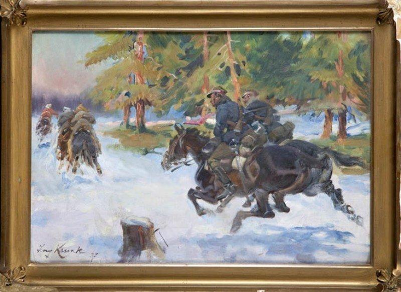 13: Jerzy Kossak (1886 Krakow - 1955 Krakow) Scena z wo