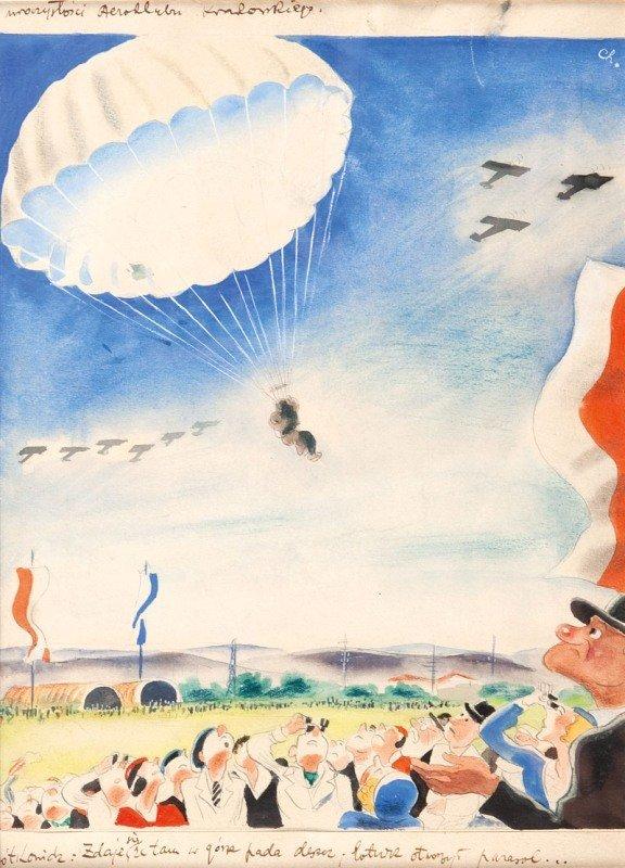 "22: Karol Ferster ""Charlie"" (1902 - 1986) karykatura Ur"