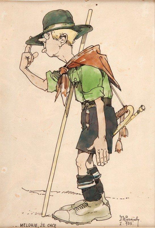"""23: Zygmunt Wierciak (1881 - 1950) """"Melduje, ze chce do"""