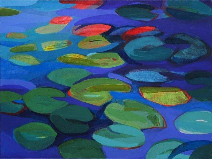 2: Justyna Strak (b. 1987 ) Jezioro szafirowe, 2011  ac