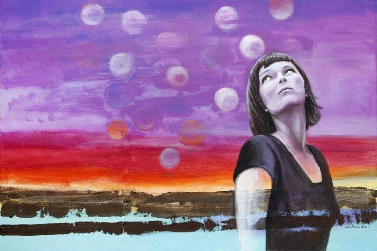 5: Daria Pelhen (b. 1971 , Grojec) ORBS, 2010  acrylic/
