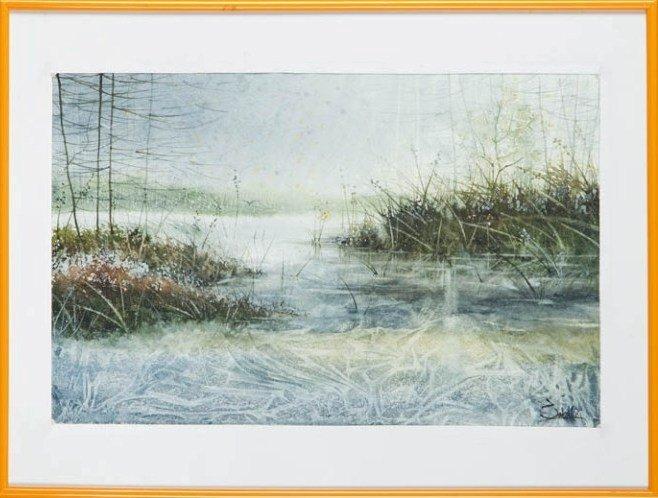 15: Aneta Saks (b. 1981 , Wolomin) Ice lake, 2012  wate