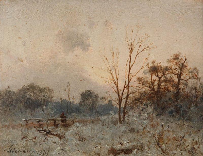19: Zygmunt Sidorowicz (1846 Lwow - 1881 Wieden) Pejzaz