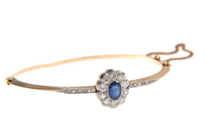 10: Sapphire bracelet Austria, XIX century gold  0,585,