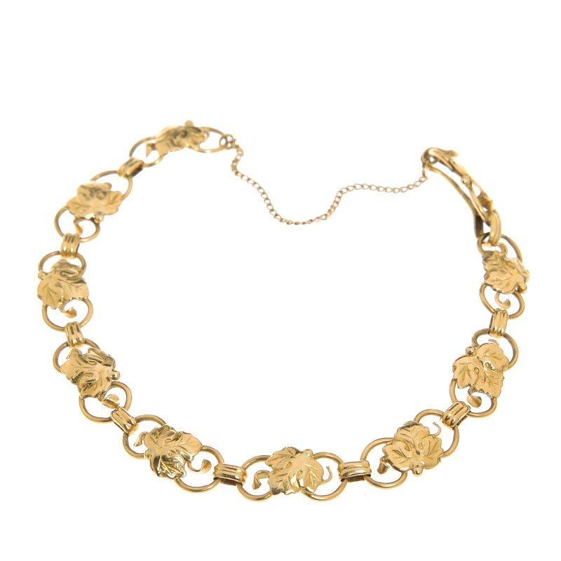 16: Bracelet Sweden, Falun, 1953 r. gold 18 K, safety-c