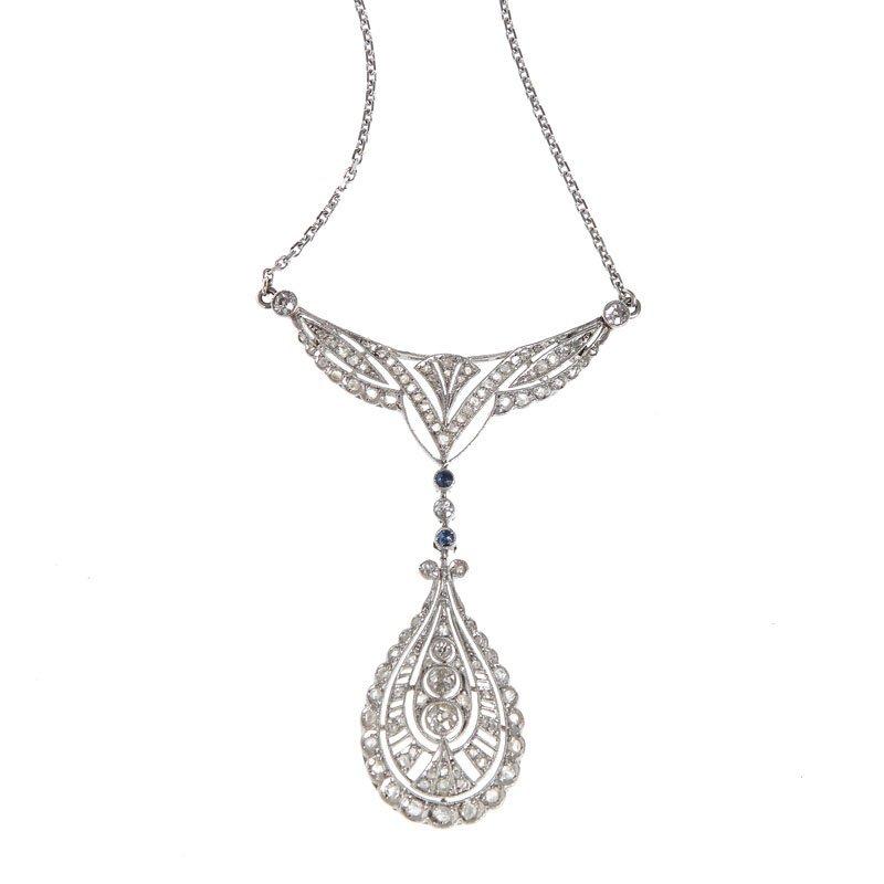 24: Diamond necklace beginning of XX century platinum