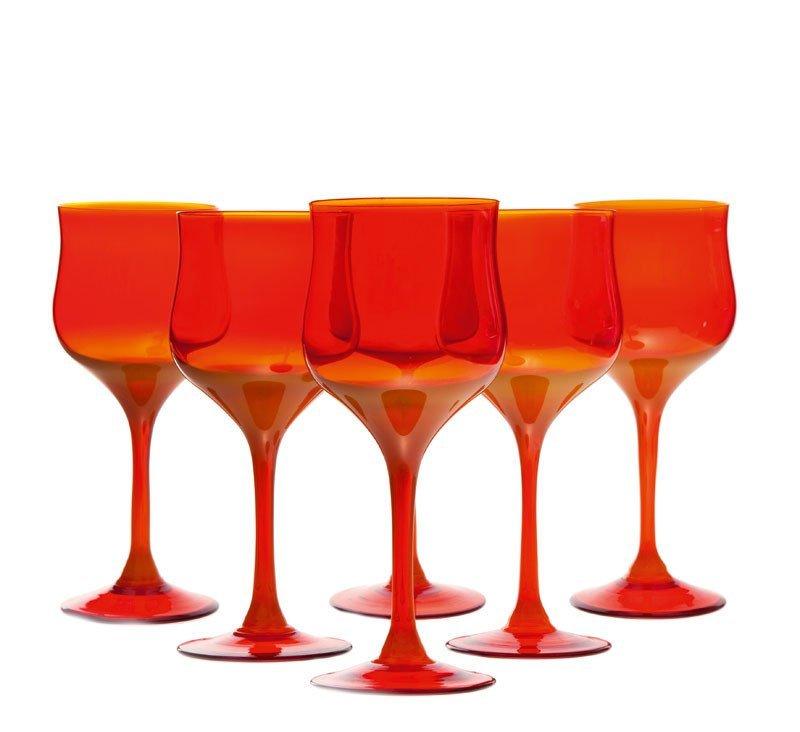 10: Zbigniew Horbowy (b. 1935 , Lanczyn) 6 glasses Glas