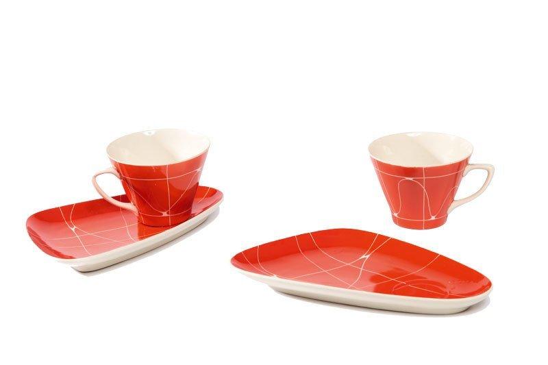 17: Pair of cups with saucers Chodzieskie Zaklady Porce