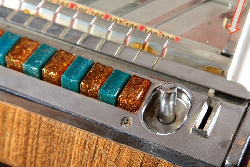 110: Jukebox Rock-Ola, c. 1957  Rock-Ola Mfg. Co., USA.