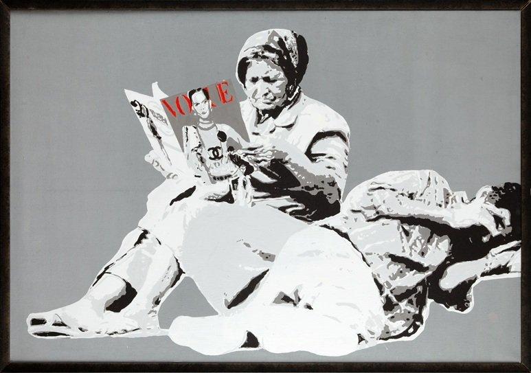 2: Karol Drzewiecki (b. 1987 , Konin) VOGUE, 2012  acry
