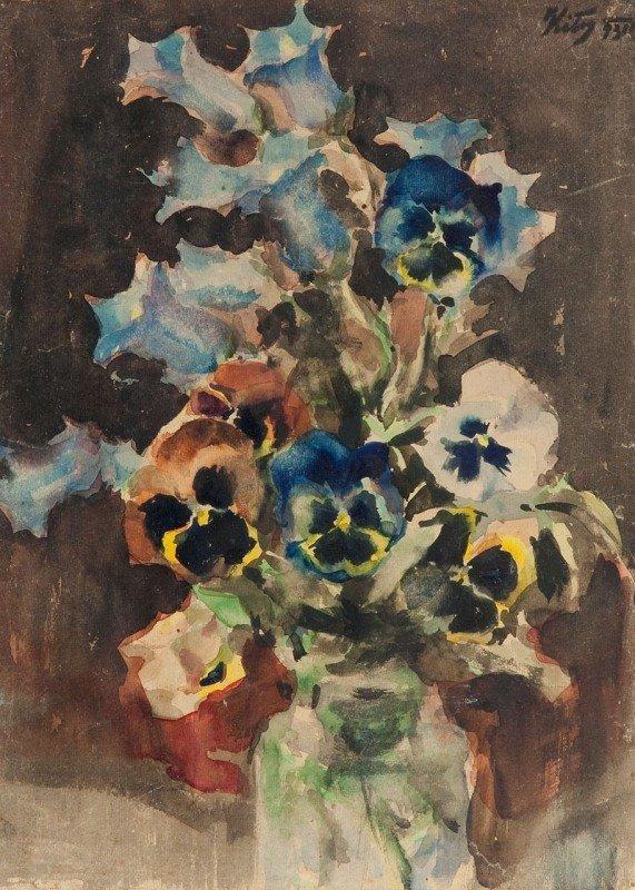 18: Marcin Kitz (1894 Lviv - 1943 Lviv) Flowers in a va