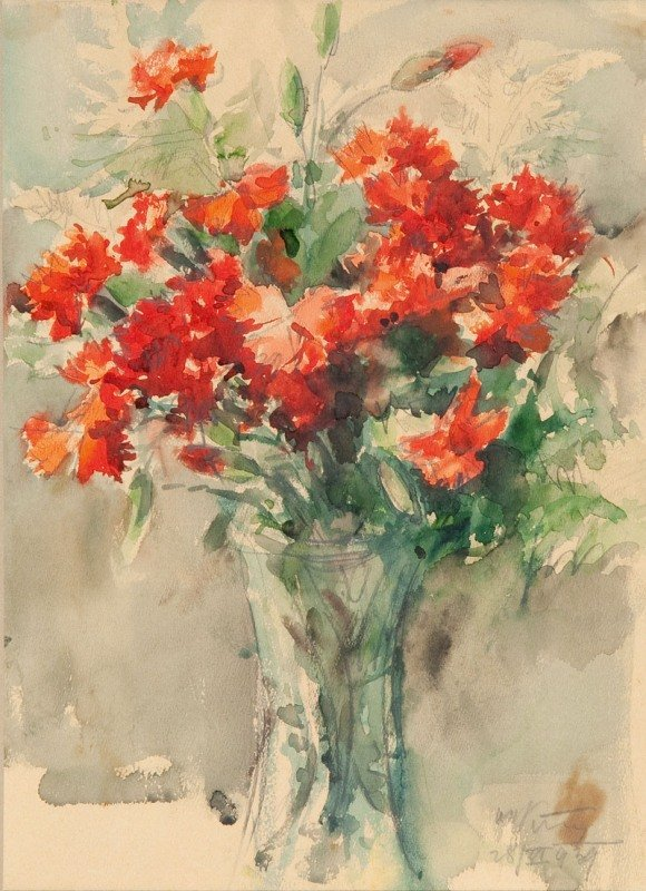 19: Marcin Kitz (1894 Lviv - 1943 Lviv) Bouquet of flow