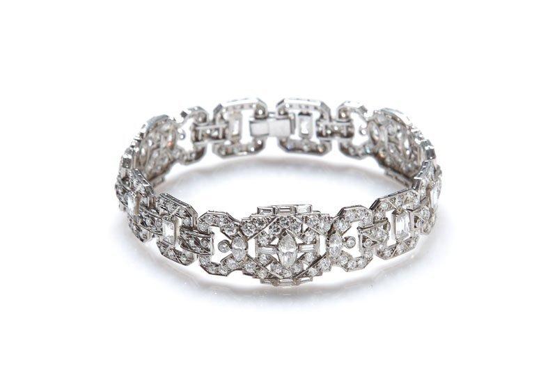 32: Bracelet art déco, 20.-30-ties XX th century platin