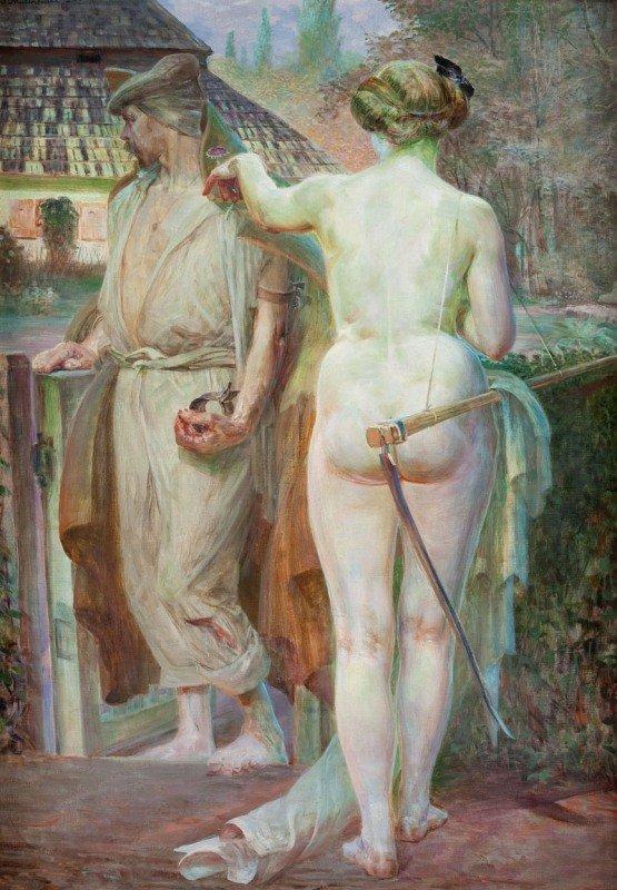 """5: Jacek Malczewski (1854 Radom - 1929 Cracow) """"Thanato"""