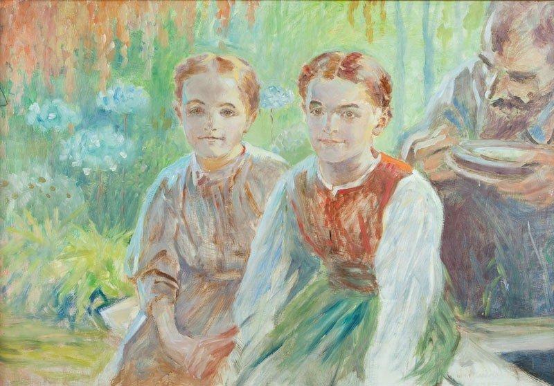 11: Jacek Malczewski (1854 Radom - 1929 Cracow) Two gir