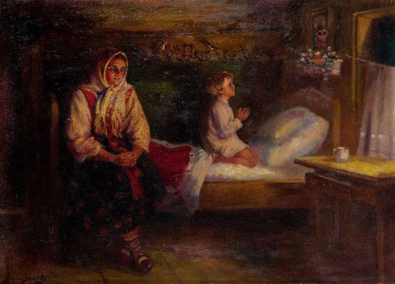 12: Sylwerjusz Saski (1864 Nottingham - 1954) Prayer oi