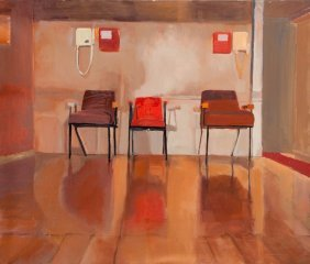 Anna Lasota (b. 1983 , Radom) Chairs, 2012  Oil/can