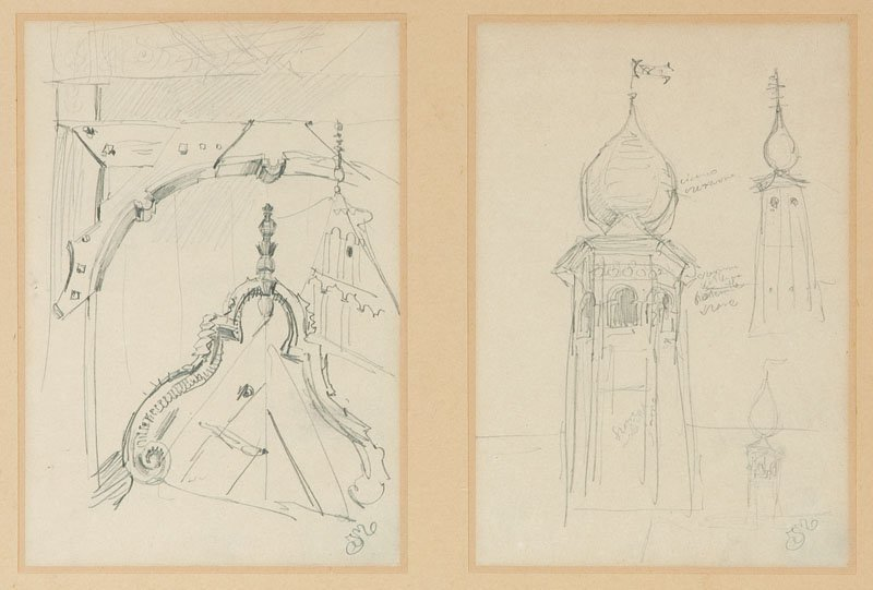 Jan Matejko (1838 Cracow - 1893 Cracow) Sketches, 2 dra